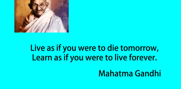 Mahatma Gandhi Live and Learn